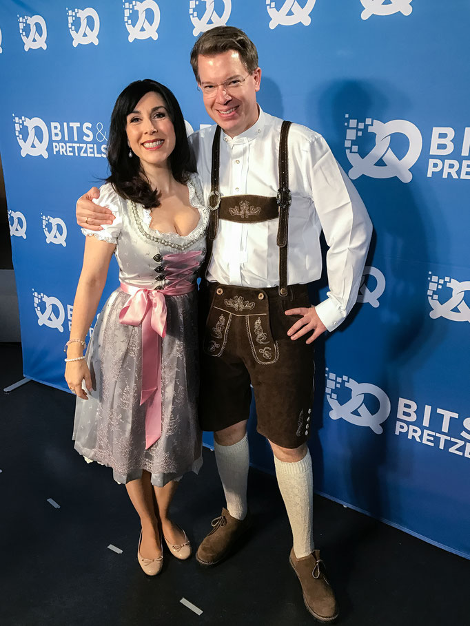 Judith Williams with Frank at Bits and Pretzels 2016