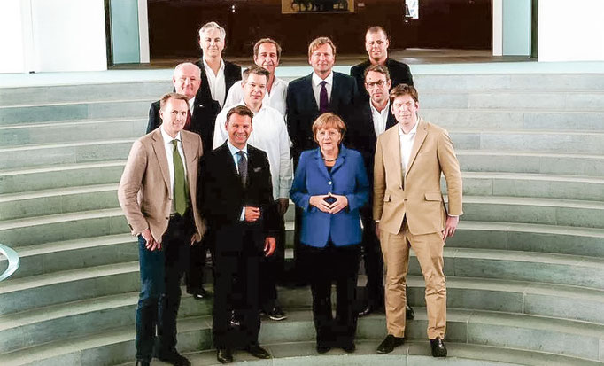 Frank and Dr. Angela Merkel, Klaus Hommels, Marco Boerries