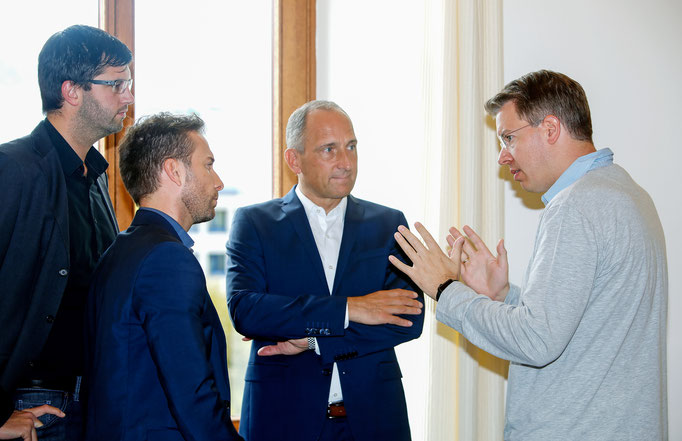 Regierungschef Adrian Hasler (Liechtenstein) with Frank