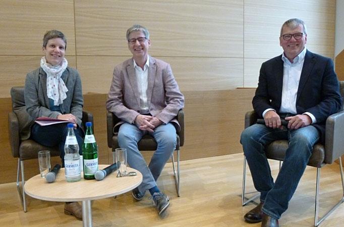 Dr. Anne-Ruth Wellert, Andreas Klenke und Hartmut Schneider