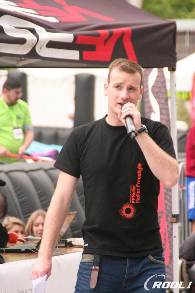 Rool - Gwennaël Brault speaker Championnat de France Freestyle