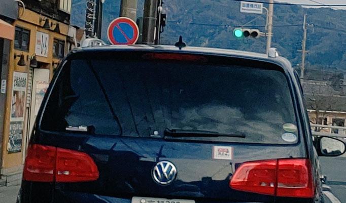 ルサンチ・まん太郎さん たまたま前を走っていた車にれいわステッカー