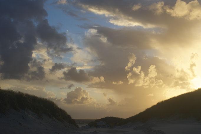 Abendlicht am Nebeler Strand