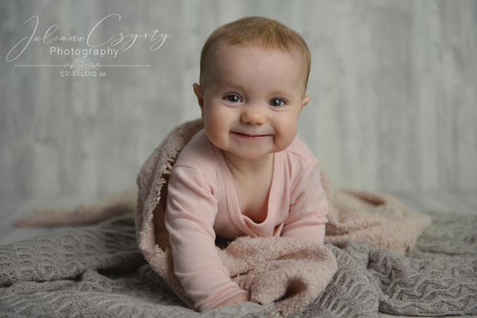 Baby Fotos liebevoll umgesetzt