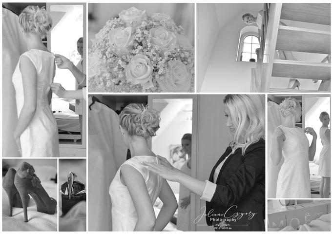 Ankleiden der Braut – Juliane Czysty, Fotostudio in Visselhövede