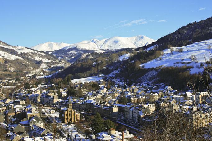 La Bourboule en hiver Crédit photo: OT massif du Sancy