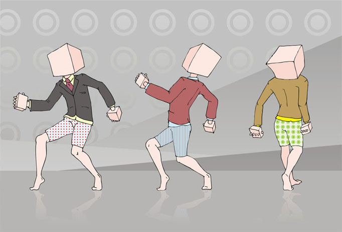 иллюстрация квадратная голова