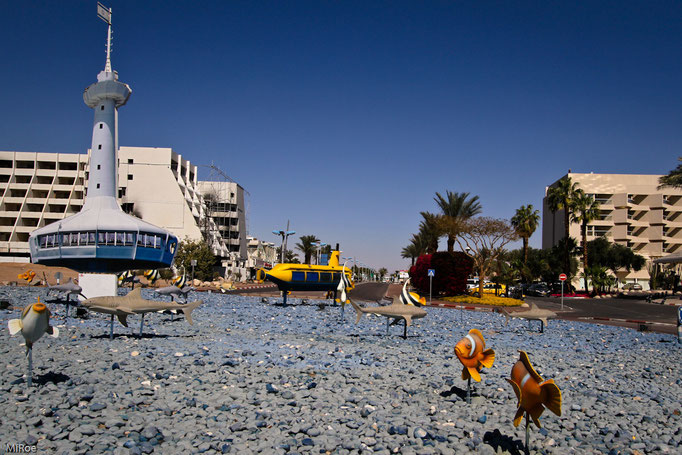 Kreisverkehr in Eilat