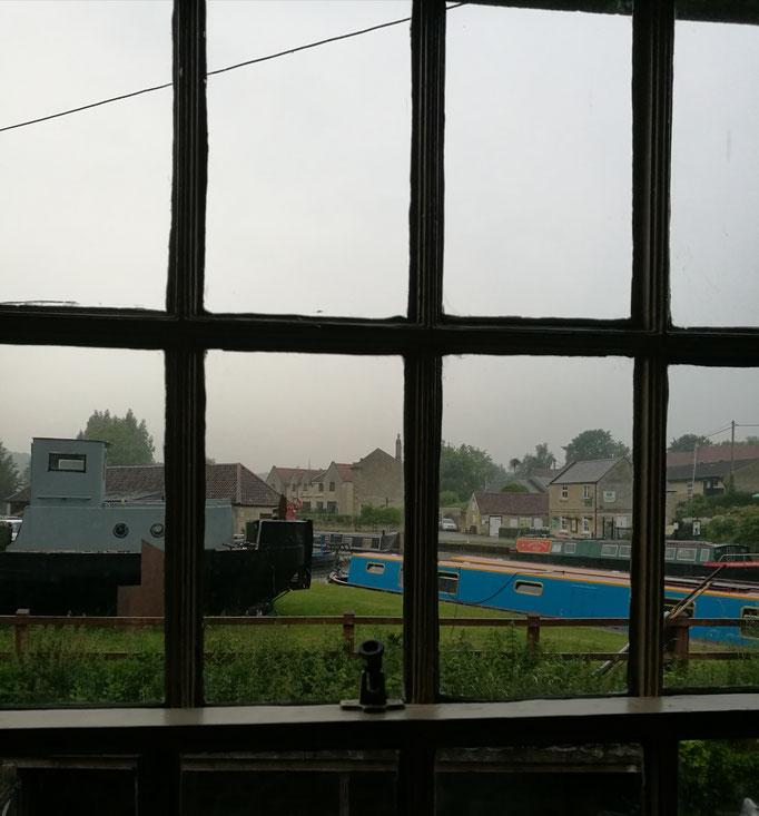 Unser Blick aus dem Zimmer in Bradford-on-Avon
