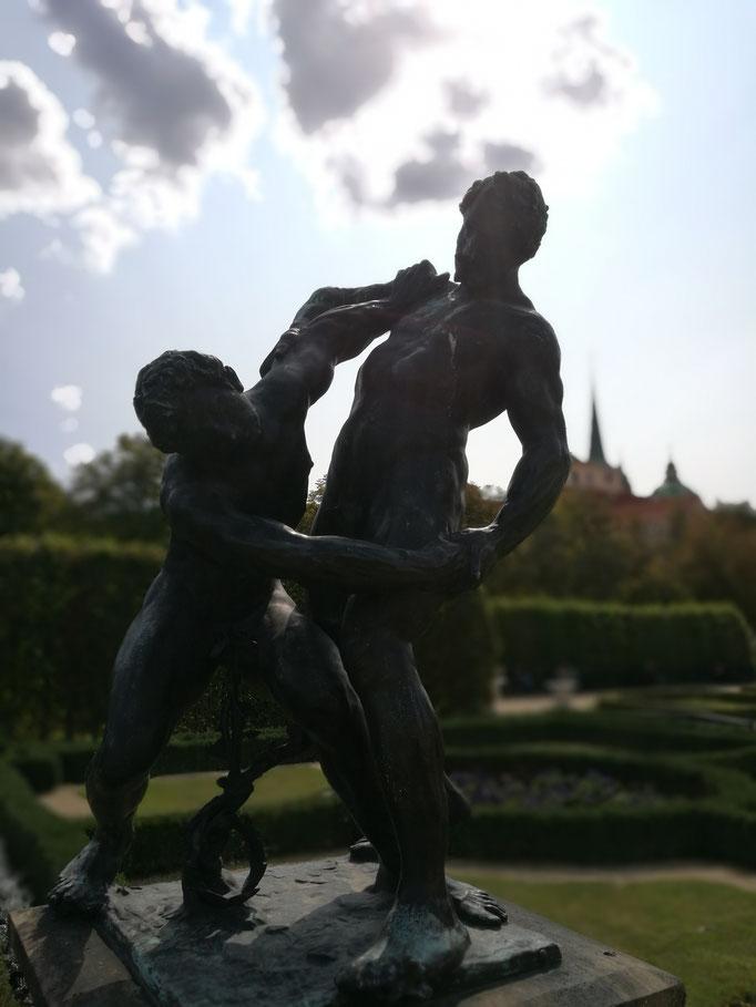 Statuen im Garten des Palais Waldstein