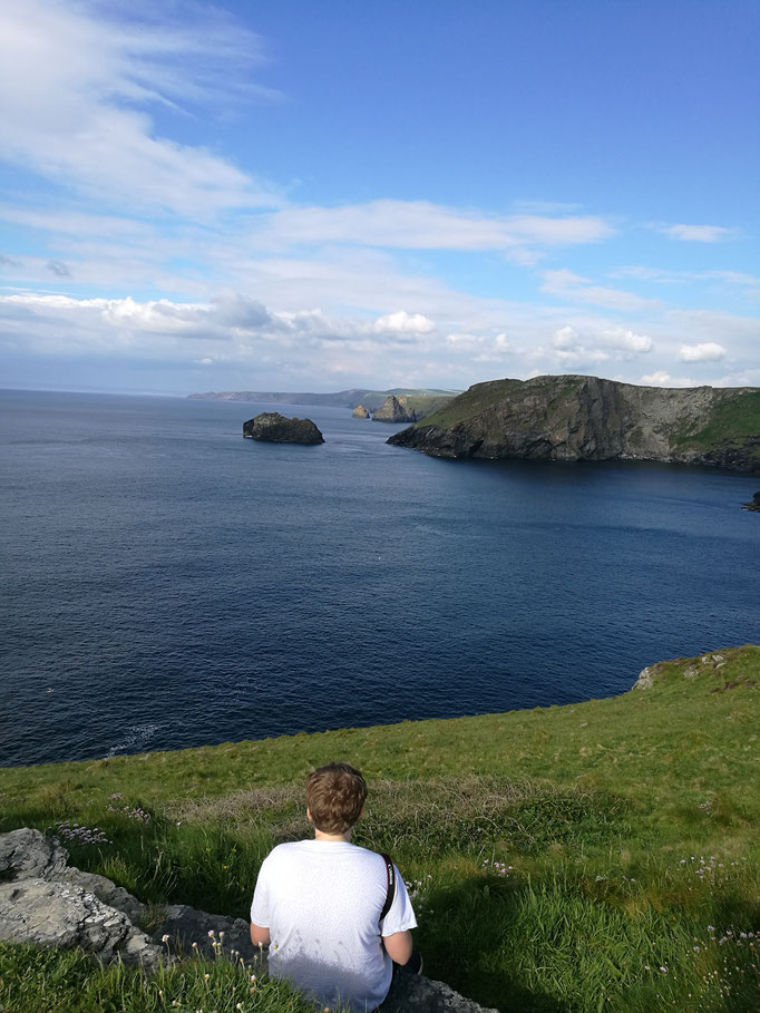 Spaziergang bei Tintagel