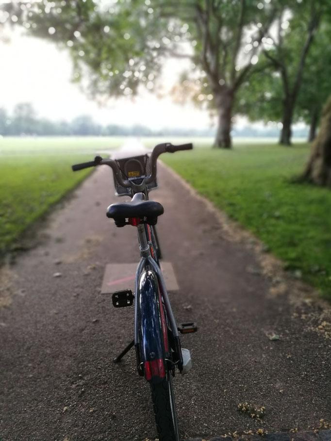 Radtour durch Kensigton Gardens