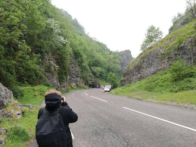 Ankunft in der Cheddar Gorge