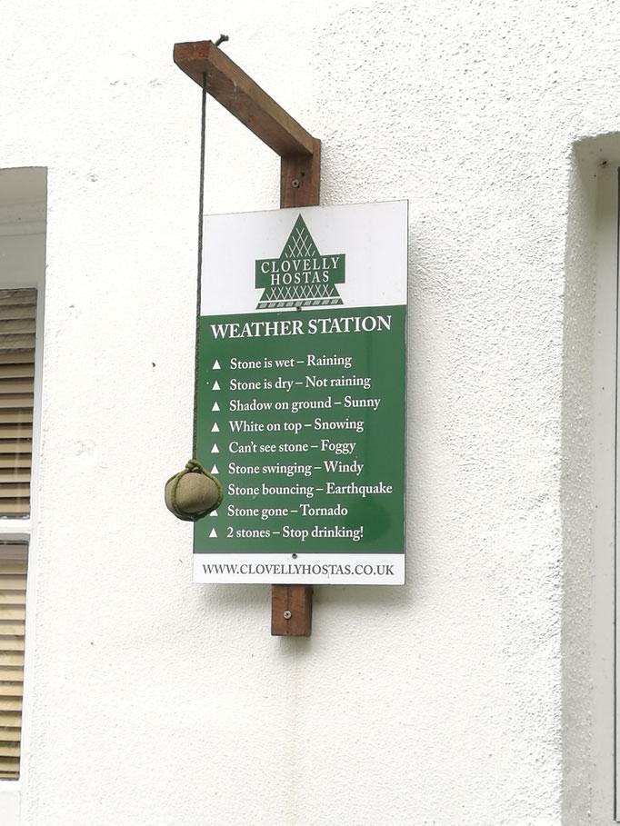 Wettervorhersage à la Clovelly