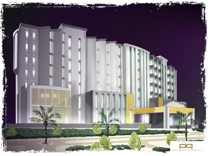 Fachada de Hotel Benis. Argelia. 2009. Pendiente de ejecución.