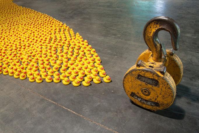 Followers / Technique Mixte / Surface : 20 m² / 2 000 canetons /   © Michel LAURENT
