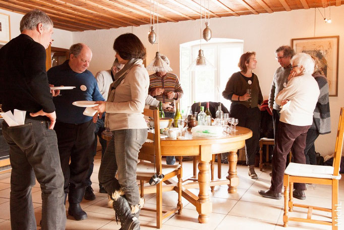"Rencontre ""New Year Brunch"" Sculpture Network 2015 chez Régina Lemoigne (Jura)    © Michel LAURENT (MichL)"