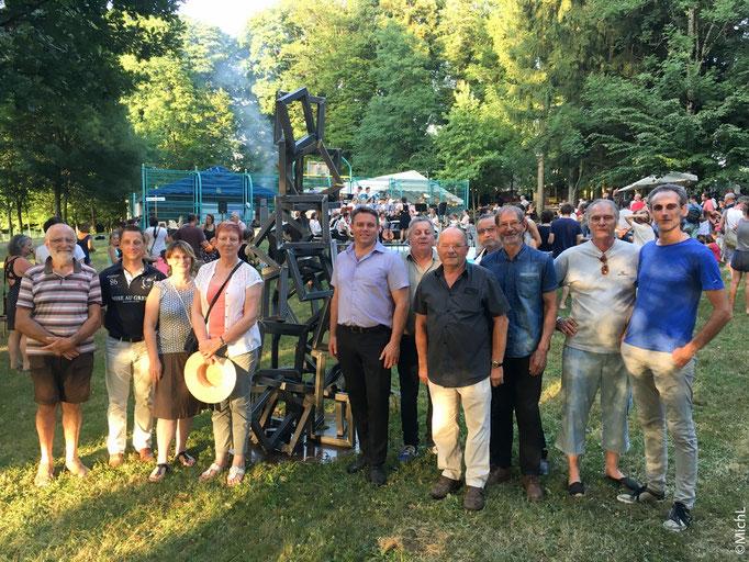 """Inauguration de """"Fer Ensemble"""" avec les maires des villages concernés et Gérome Fassenet, président de la ComCom   /  © Michel LAURENT / MichL"""