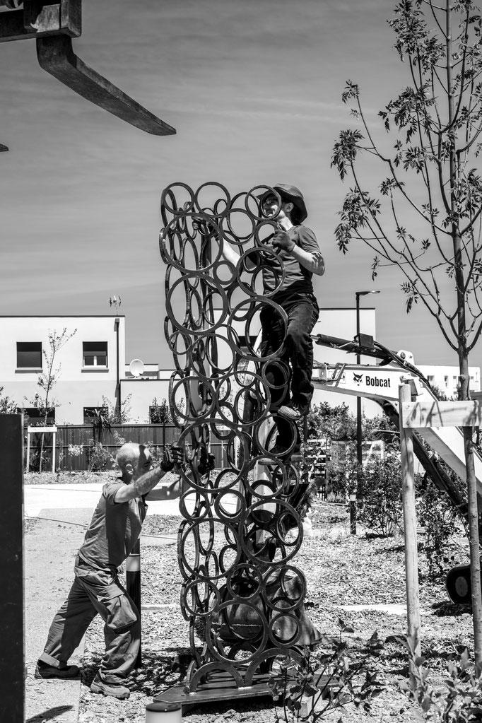 Installation TRYPTIC I et II  (juin 2018) © Michel LAURENT / MichL