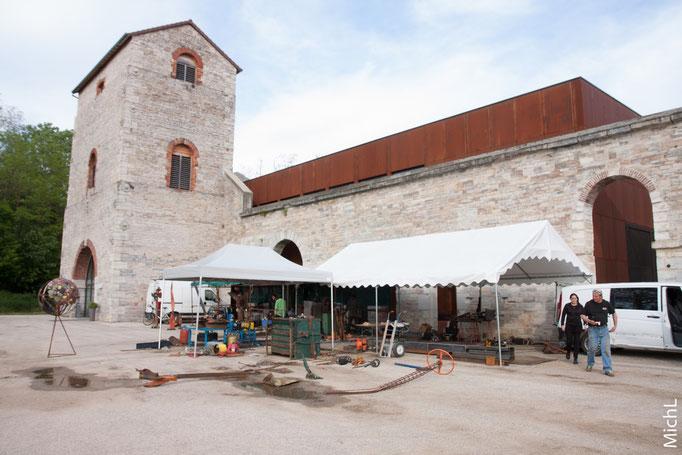 Symposium de sculpture métal aux Forges de Fraisans (Jura) du 8 au 14 mai 2016  © Michel LAURENT (MichL)