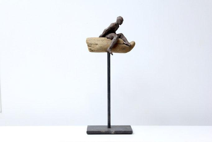 Sculpture, art, Terre & bois flotté, sculpteur, Langloÿs