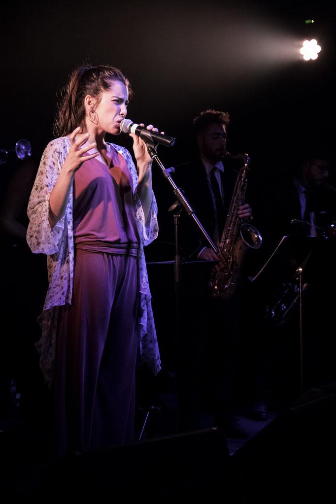 Maria at the Drop Collective concert in La Nau, Barcelona.