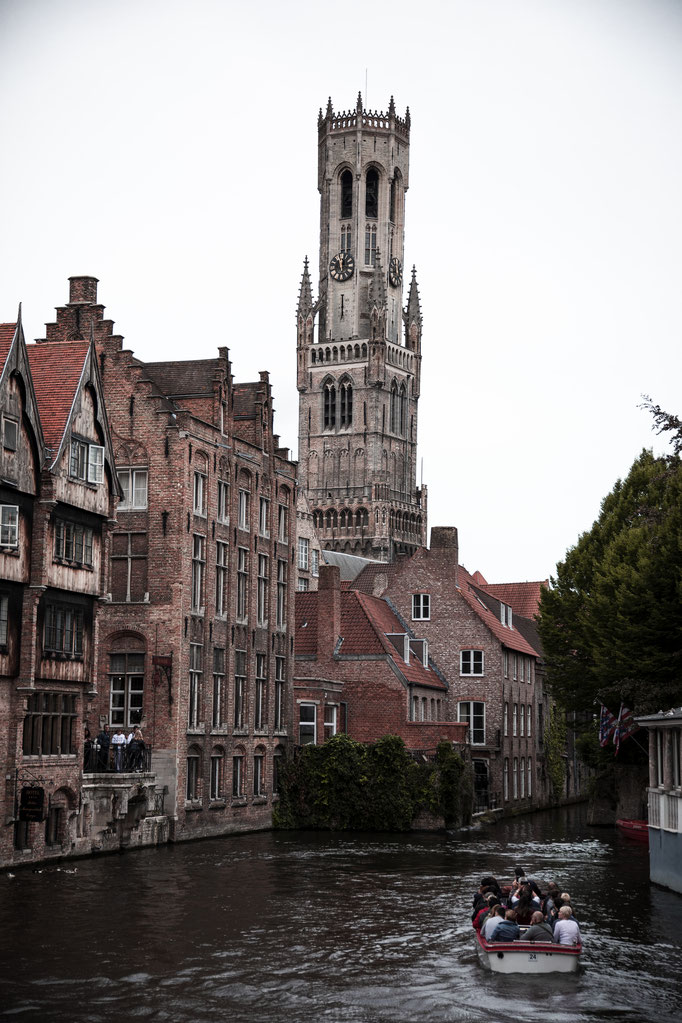 Photo taken from a Boat in Bruges, Belgium.