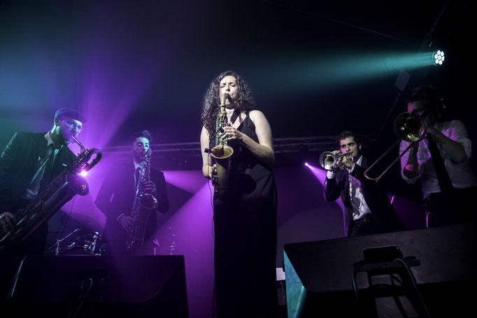Andreu, Íñigo, Alba, Arnau and Pablo at the Drop Collective concert in La Nau, Barcelona.