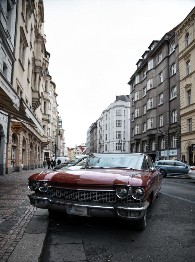 Car in Prague, Czech Republic.