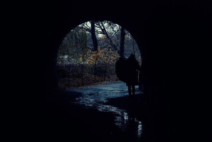 Hyde Park Tunnel, London.