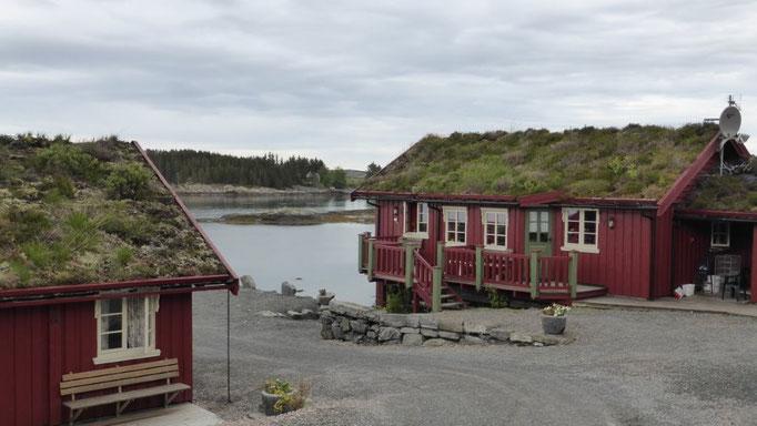 norwegisches Haus am Atlantik
