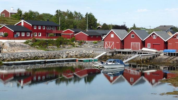 norwegische Siedlung an der Atlantikstraße