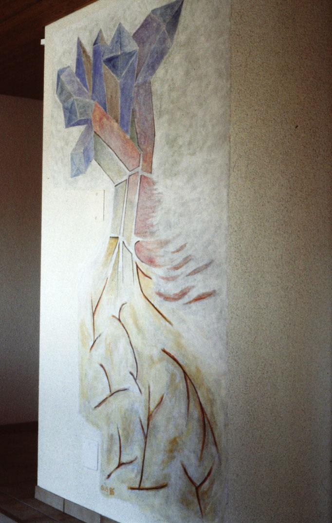 Ebikon, Fresco Treppenhaus, 1985