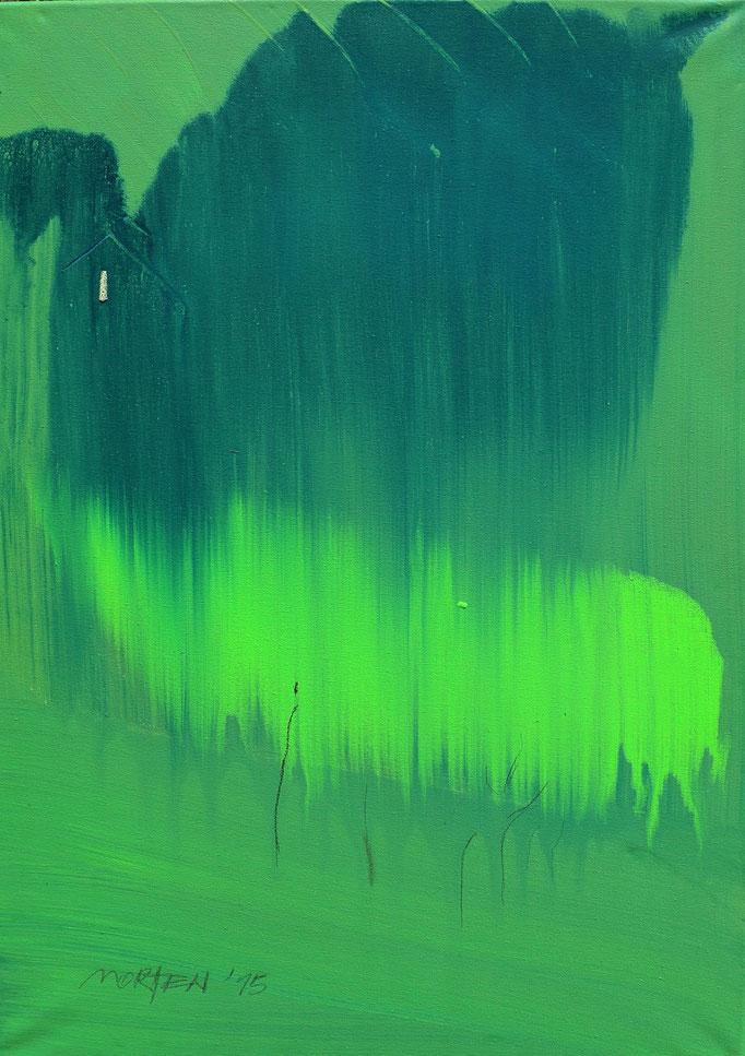 SCHWARZWALD - BG 0, (Baumgruppe No. 0), 2015, Johannes Morten, 60x80 cm, Öl, -Kreide und Graphit auf Canvas