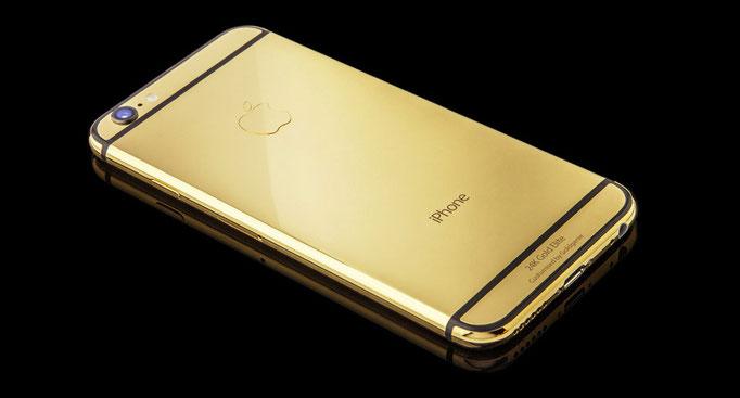 Gold iPhone diamantes