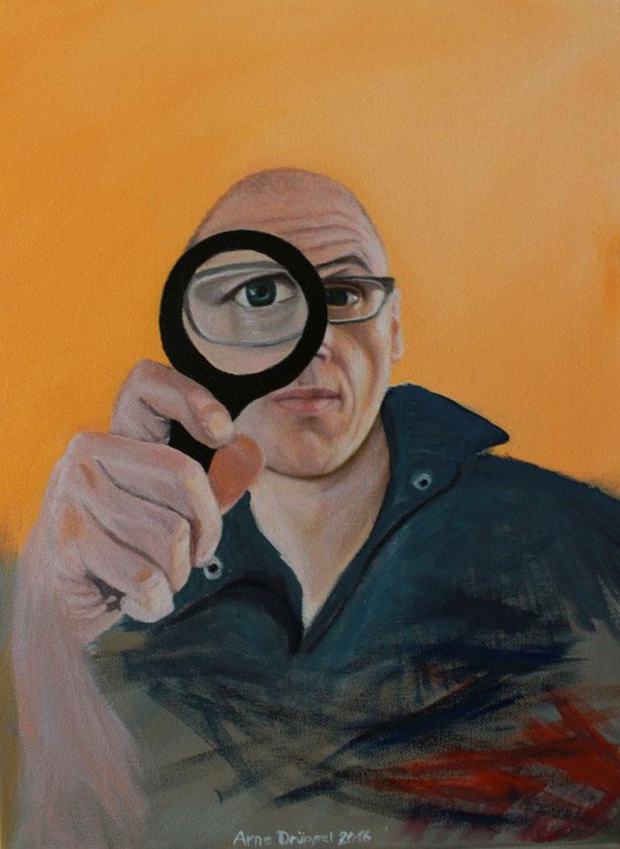 Selbstportrait, Öl auf Leinwand, 30x40cm