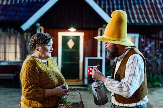 Marianne Sägebrecht (Beda) und Stefan Kurt (Pettersson), Fotograf: Willi Weber