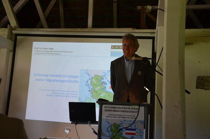 Seekamp-Vortrag Professor Dr. Auge / 02.09.18 / Foto: Dieter Wöhlk / Hannelore Pieper-Wöhlk