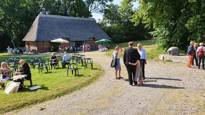 Lesung Jan Christophersen 27.06.21 / Fotograf: Wolfgang Brammen