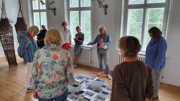 Ausstellungseröffnung Susan Walke 01.08.21 / Foto: Wolfgang Brammen