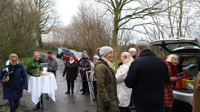 Enthüllung Erinnerungsstele Kinderrepublik Seekamp 14.12.18  Foto: Wolfgang Brammen