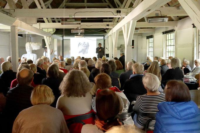 """Film-Vorführung Seekamp 03.07.19 """"Die Duwes - eine Künstlerfamilie"""" / Foto: Gisela Gülzow"""