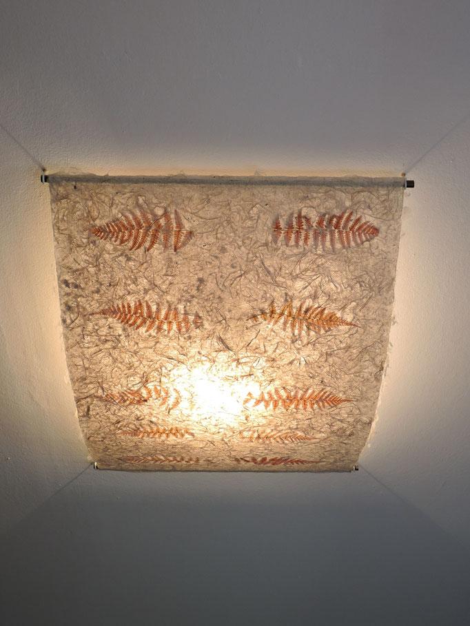 Deckenlampe Mitsumata mit Farn