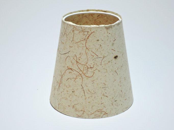 PAPIER-art ART-papier, Lampenschirm aus Papier, Zellstoffaser Fichtenzellulose mit Maisfäden 12-08 / h 12 cm, Mattsee, Österreich