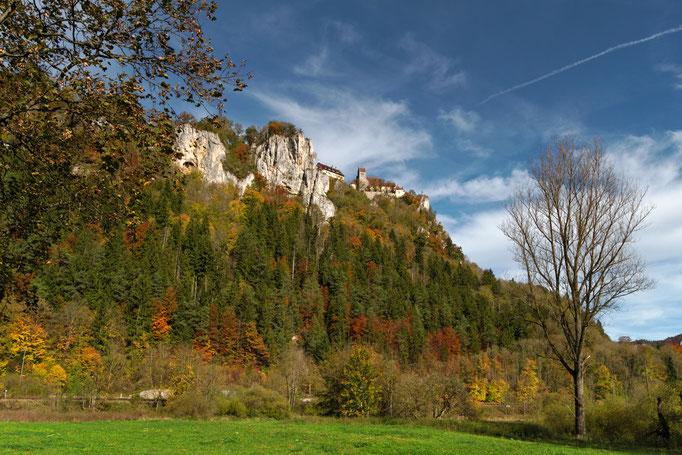 Oberes Donautal mit Blick auf Schloss Werenwag