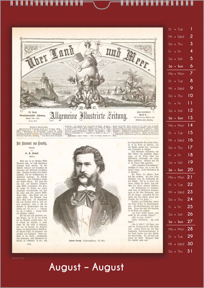 Music Gift Composers Calendar: Historic Newspaper Titles.