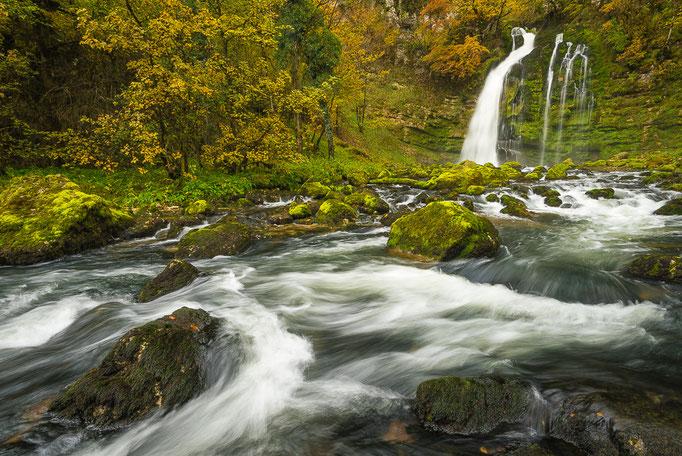 Waterfall Cascades de Flumen, Jura Mountains, France