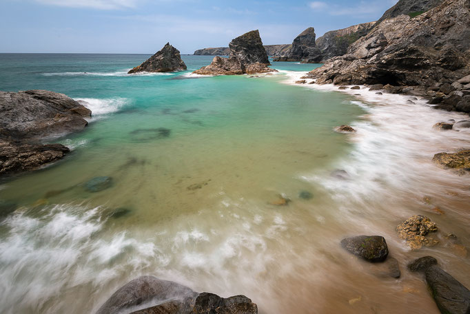 Bedruthan Steps, Cornwall, England, UK