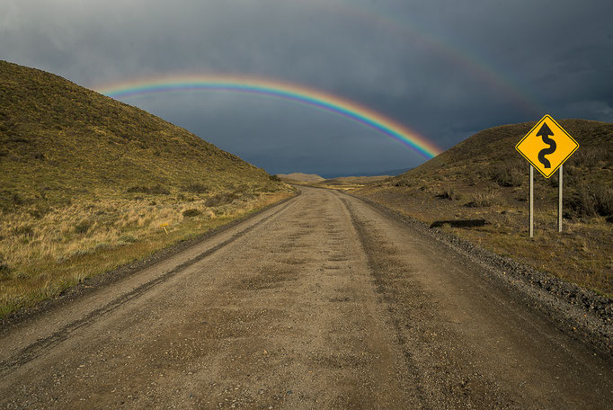 Rainbow in Torres del Paine NP