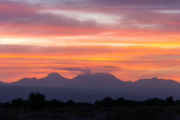 Sunrise near San Pedro, Volcano Lascar